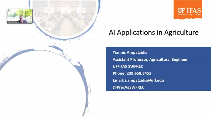 AI Advances and Applications Virtual Seminar Series – Dr. Yiannis Ampatzidis