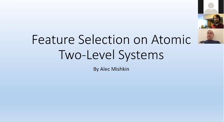 Feature Selection on Atomic Level Systems – Alec Mishkin
