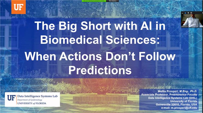 AI Advances Virtual Seminar Series – The Big Short with AI in Biomedical Sciences