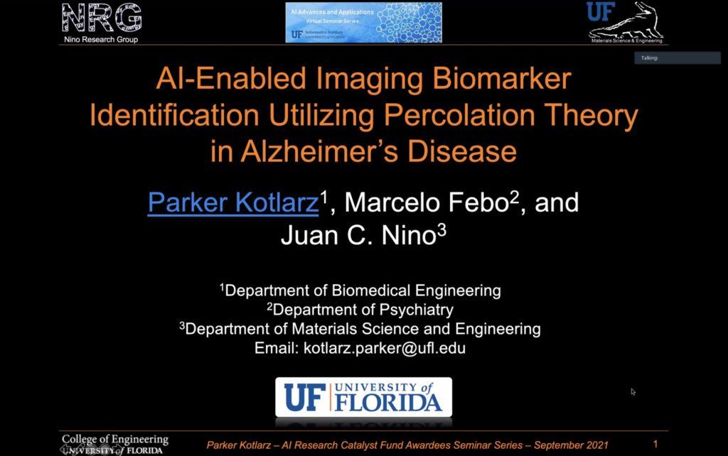 AI Research Catalyst Fund Awardees Virtual Seminar Series – Parker Kotlarz