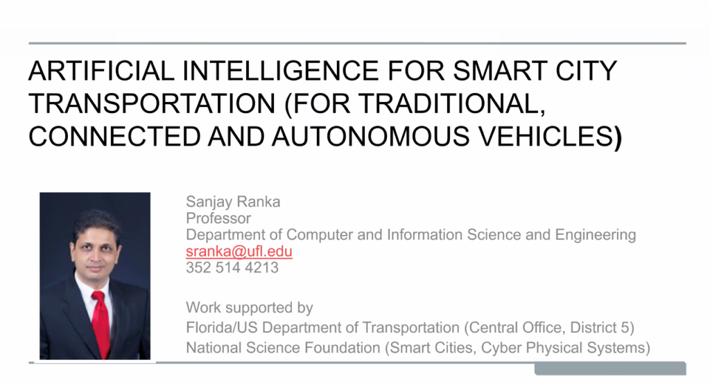 AI Advances Virtual Seminar Series – AI for Smart City Transportation