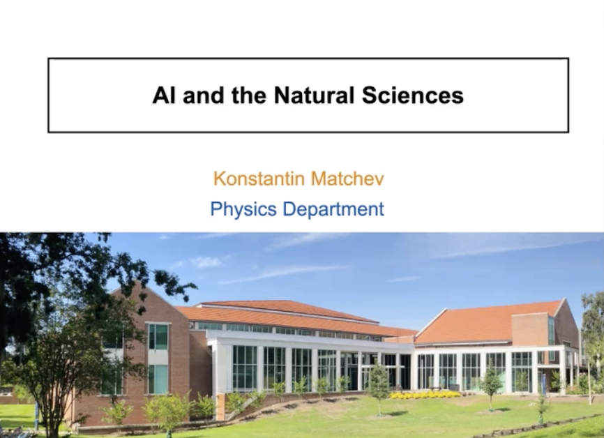 AI in Natural Sciences: Konstantin Matchev and Adrian Roitberg