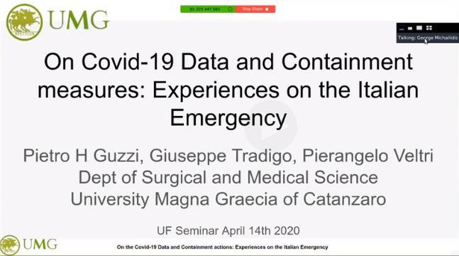 Dr. Pietro Hiram Guzzi, Dr. Giuseppe Tradigo, Dr. Pierangelo Veltri
