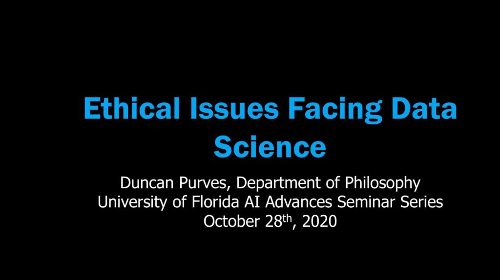 AI Advances and Applications Virtual Seminar Series – Dr. Duncan Purves