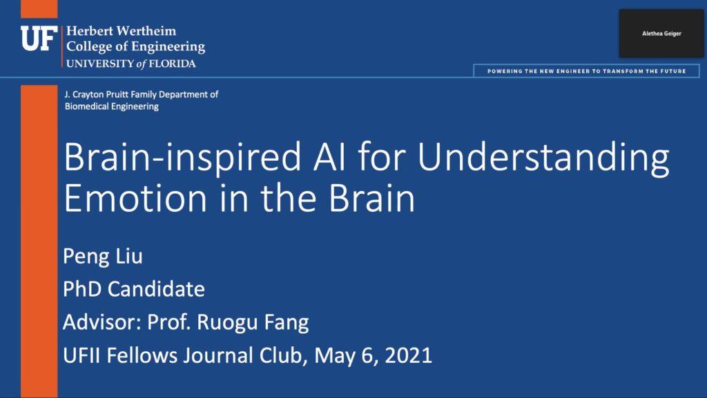 UFII Fellows Journal Club Talks – Peng Liu